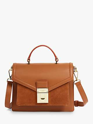 Ted Baker Kimmies Leather Cross Body Bag, Tan