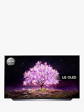 LG OLED55C14LB (2021) OLED HDR 4K Ultra HD Smart TV, 55 inch with Freeview Play/Freesat HD & Dolby Atmos, Black