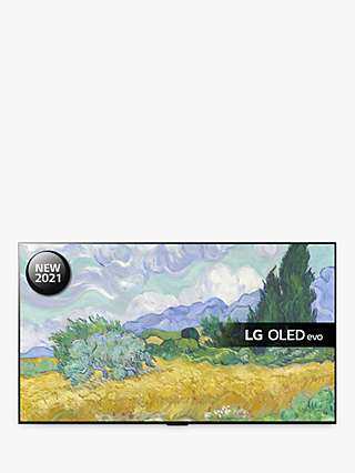 LG OLED55G16LA (2021) OLED HDR 4K Ultra HD Smart TV, 55 inch with Freeview Play/Freesat HD, Dolby Atmos & Gallery Design, Dark Silver