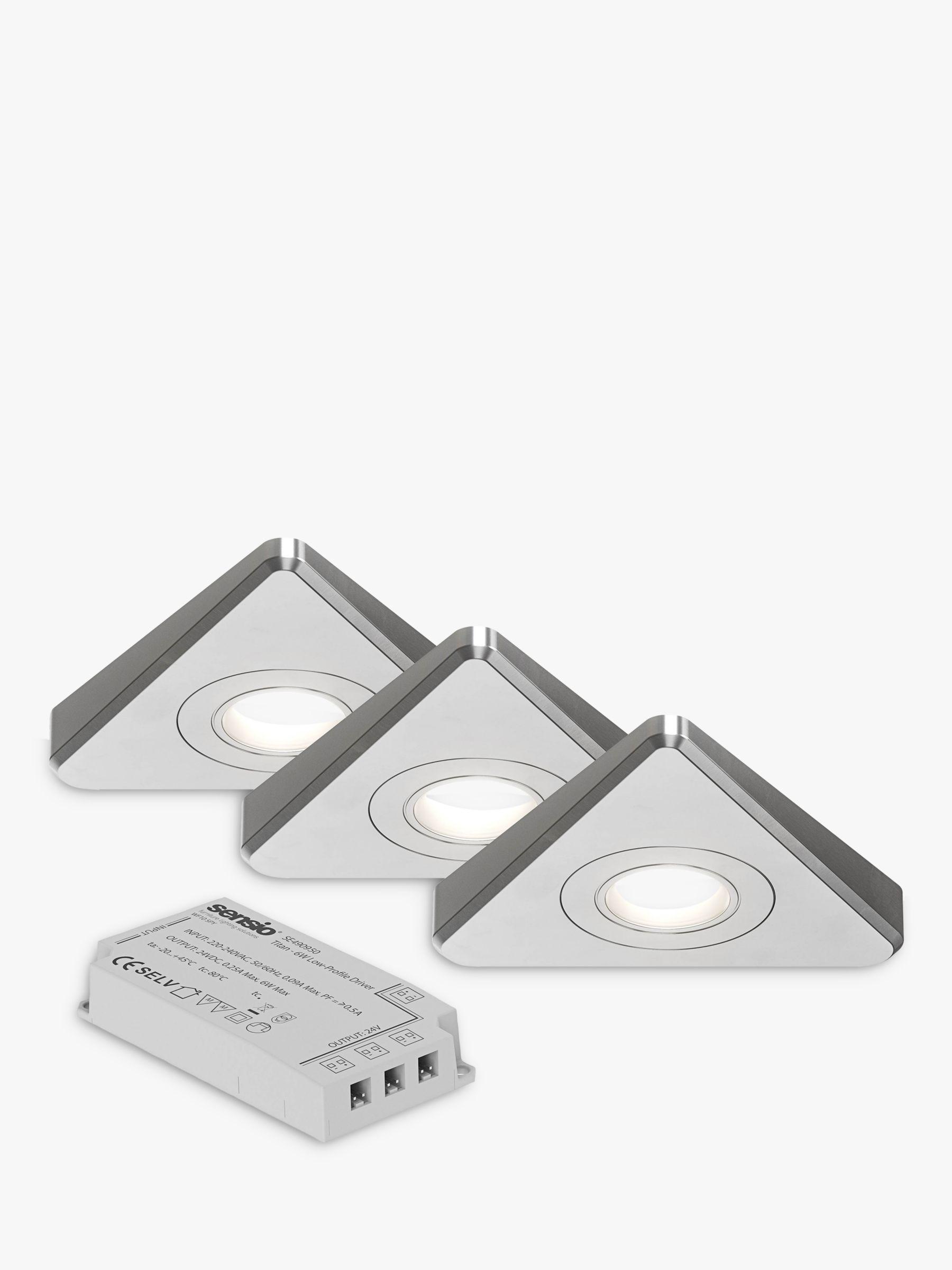 Sensio Nexus LED Trio Tone Under Kitchen Cabinet Lights & Driver, Pack of 3, White