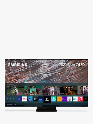 Samsung QE85QN800A (2021) Neo QLED HDR 2000 8K Ultra HD Smart TV, 85 inch with TVPlus/Freesat HD, Black
