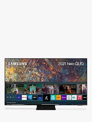 Samsung QE65QN90A (2021) Neo QLED HDR 2000 4K Ultra HD Smart TV, 65 inch with TVPlus/Freesat HD, Black