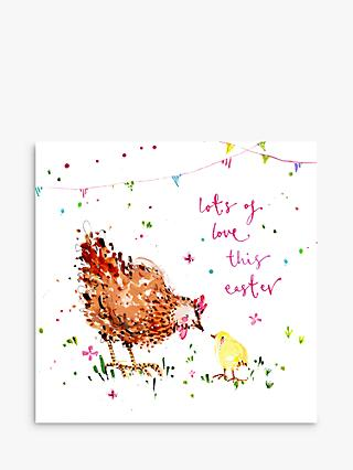 Louise Mulgrew Designs Chicken & Chick Easter Card