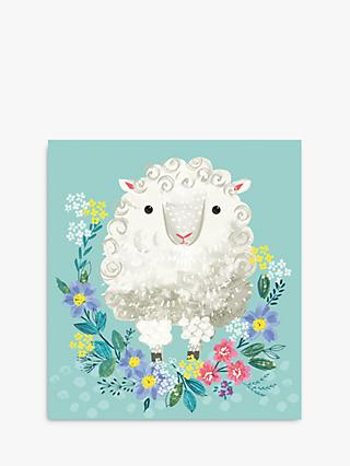 Woodmansterne Lamb in Flowers Easter Card