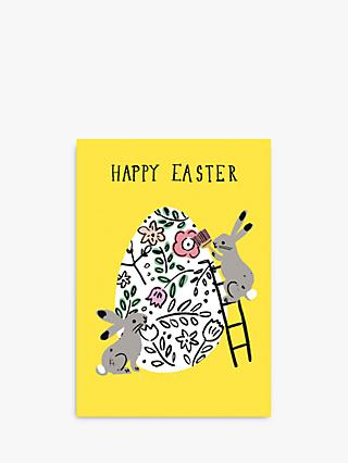 Woodmansterne Rabbits Egg Easter Card
