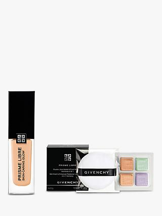 Givenchy Prisme Libre Skin-Caring Glow Foundation, 1-W100 Bundle with Gift