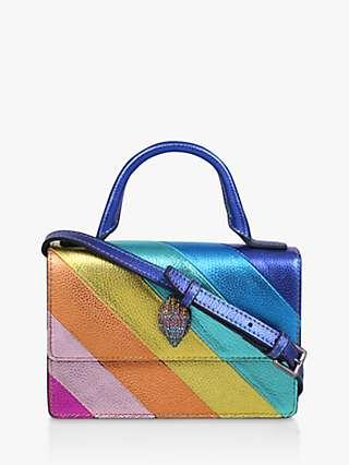 Kurt Geiger London Shoreditch Mini Rainbow Leather Cross Body Bag, Multi