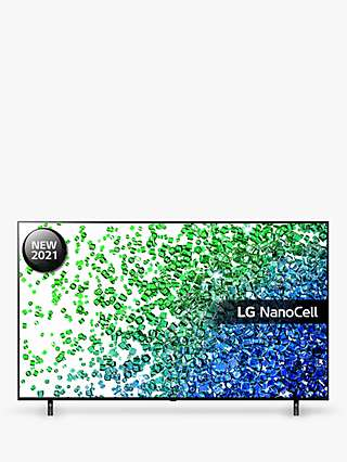 LG 50NANO806PA (2021) LED HDR NanoCell 4K Ultra HD Smart TV, 50 inch with Freeview Play/Freesat HD, Meteor Grey