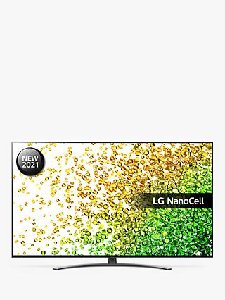 LG 55NANO866PA (2021) LED HDR NanoCell 4K Ultra HD Smart TV, 55 inch with Freeview Play/Freesat HD & Dolby Atmos, Dark Steel Silver