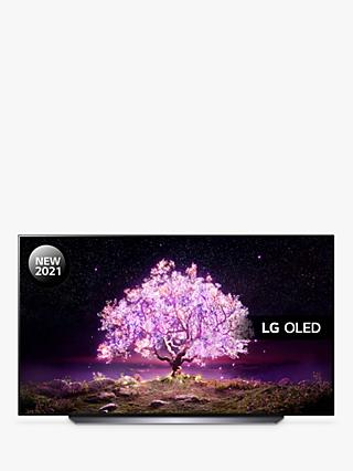 LG OLED77C14LB (2021) OLED HDR 4K Ultra HD Smart TV, 77 inch with Freeview Play/Freesat HD & Dolby Atmos, Black
