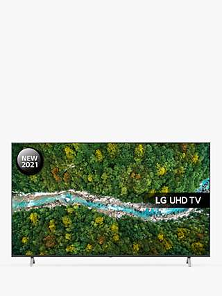 LG 75UP77006LB (2021) LED HDR 4K Ultra HD Smart TV, 75 inch with Freeview Play/Freesat HD, Dark Iron Grey
