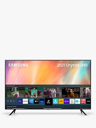 Samsung UE65AU7100 (2021) HDR 4K Ultra HD Smart TV, 65 inch with TVPlus, Black