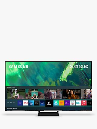 Samsung QE65Q70A (2021) QLED HDR 4K Ultra HD Smart TV, 65 inch with TVPlus, Black