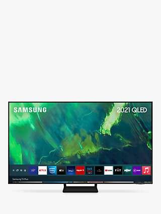 Samsung QE55Q70A (2021) QLED HDR 4K Ultra HD Smart TV, 55 inch with TVPlus, Black
