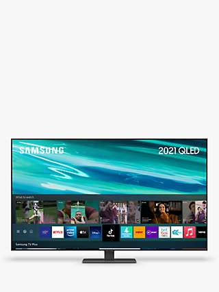 Samsung QE55Q80A (2021) QLED HDR 1500 4K Ultra HD Smart TV, 55 inch with TVPlus/Freesat HD, Black