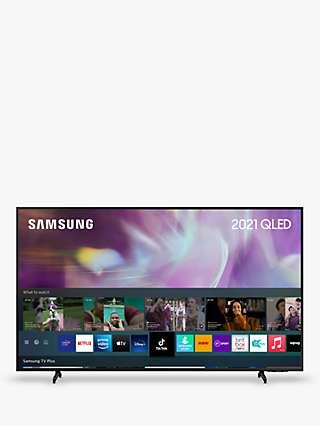 Samsung QE85Q60A (2021) QLED HDR 4K Ultra HD Smart TV, 85 inch with TVPlus, Black