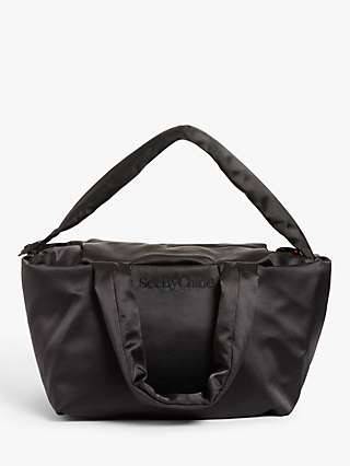 See By Chloé Tilly Satin Tote Bag, Black