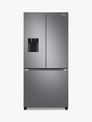 Samsung RF50A5202S9 Freestanding 75/25 French Fridge Freezer, Stainless Steel