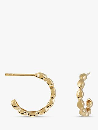 Emily Mortimer Jewellery Small Pinched Hoop Earrings