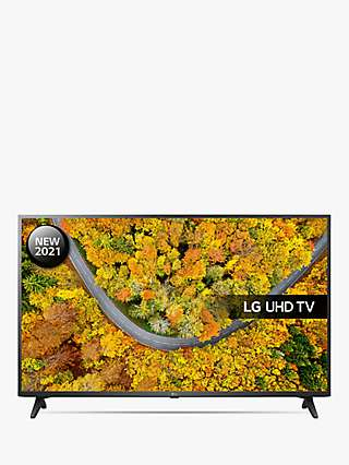 LG 65UP75006LF (2021) LED HDR 4K Ultra HD Smart TV, 65 inch with Freeview Play/Freesat HD, Ceramic Black