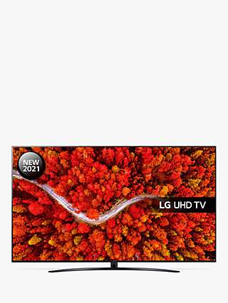 LG 75UP81006LA (2021) LED HDR 4K Ultra HD Smart TV, 75 inch with Freeview Play/Freesat HD, Ashed Blue