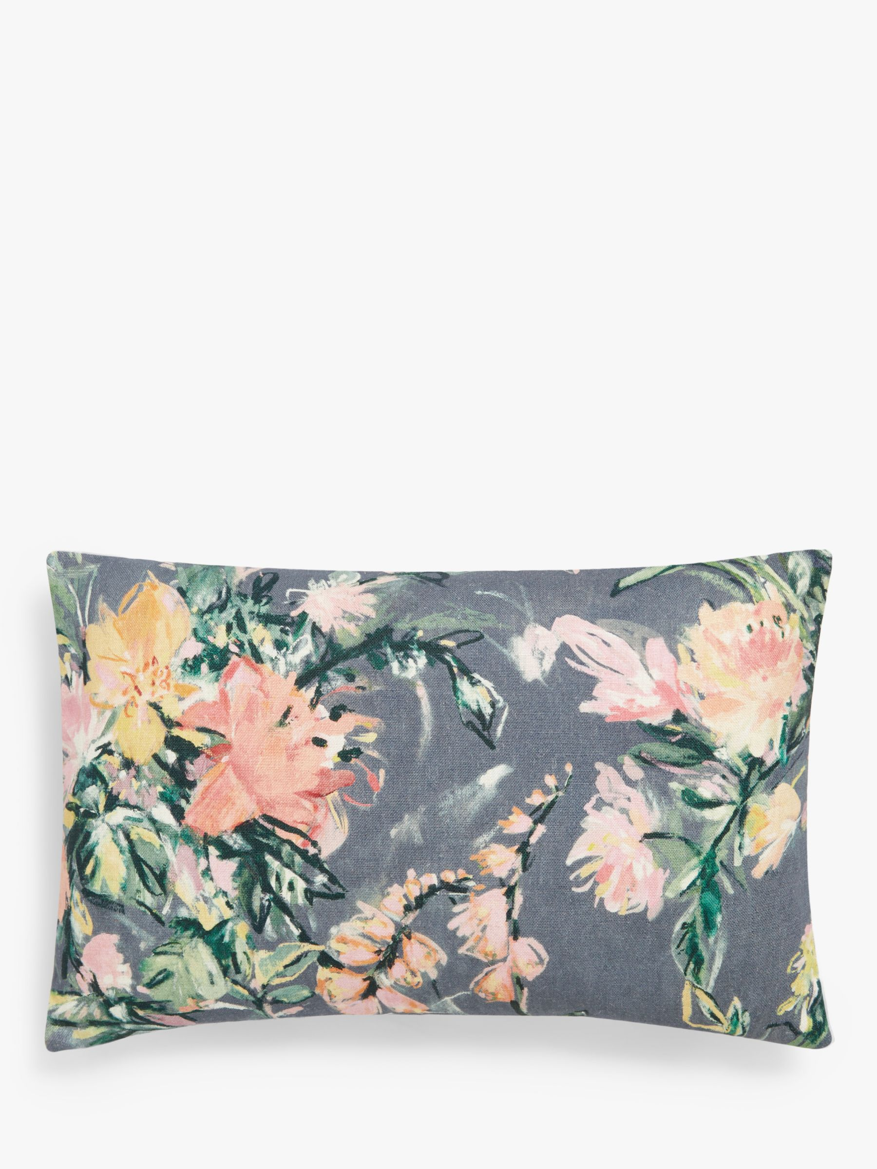 John Lewis & Partners Garden Bouquet Cushion, Steel