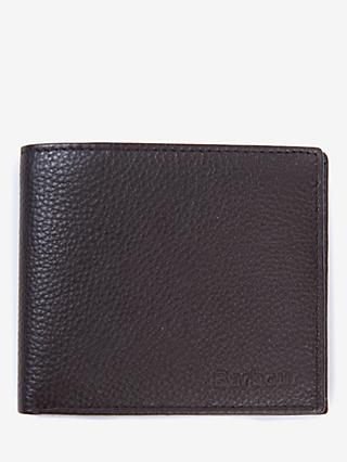 Barbour Amble Leather Billfold Wallet, Dark Brown