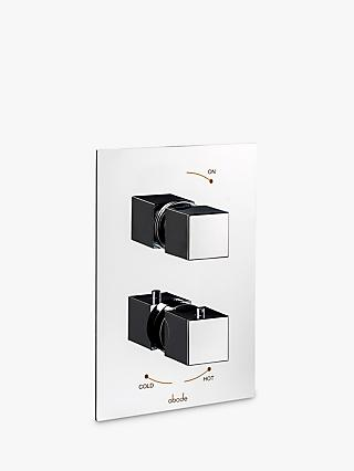 Abode Zeal Concealed Wall-Mounted Thermostatic Shower Control, 2 Exit, Chrome