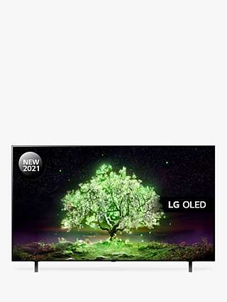 LG OLED48A16LA (2021) OLED HDR 4K Ultra HD Smart TV, 48 inch with Freeview Play/Freesat HD & Dolby Atmos, Black