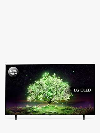 LG OLED65A16LA (2021) OLED HDR 4K Ultra HD Smart TV, 65 inch with Freeview Play/Freesat HD & Dolby Atmos, Black