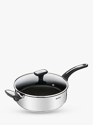 Tefal Emotion Stainless Steel Non-Stick Saute Pan & Lid, 26cm