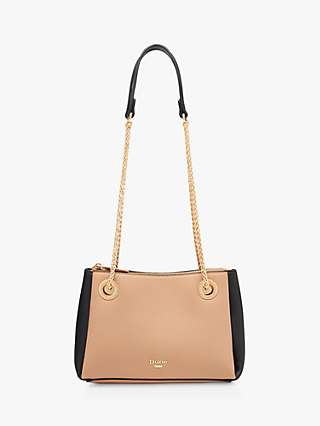 Dune Bevette Chain Handle Shoulder Bag, Camel
