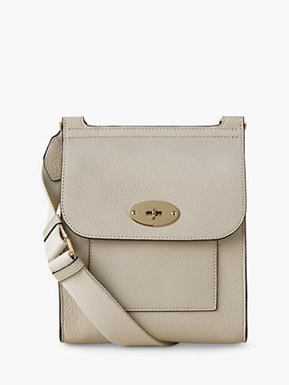 Mulberry Small Antony Heavy Grain Leather Satchel, Chalk