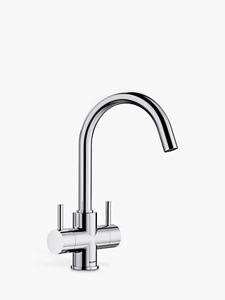 Blanco Camia 2-Lever Monobloc Kitchen Mixer Tap, Chrome