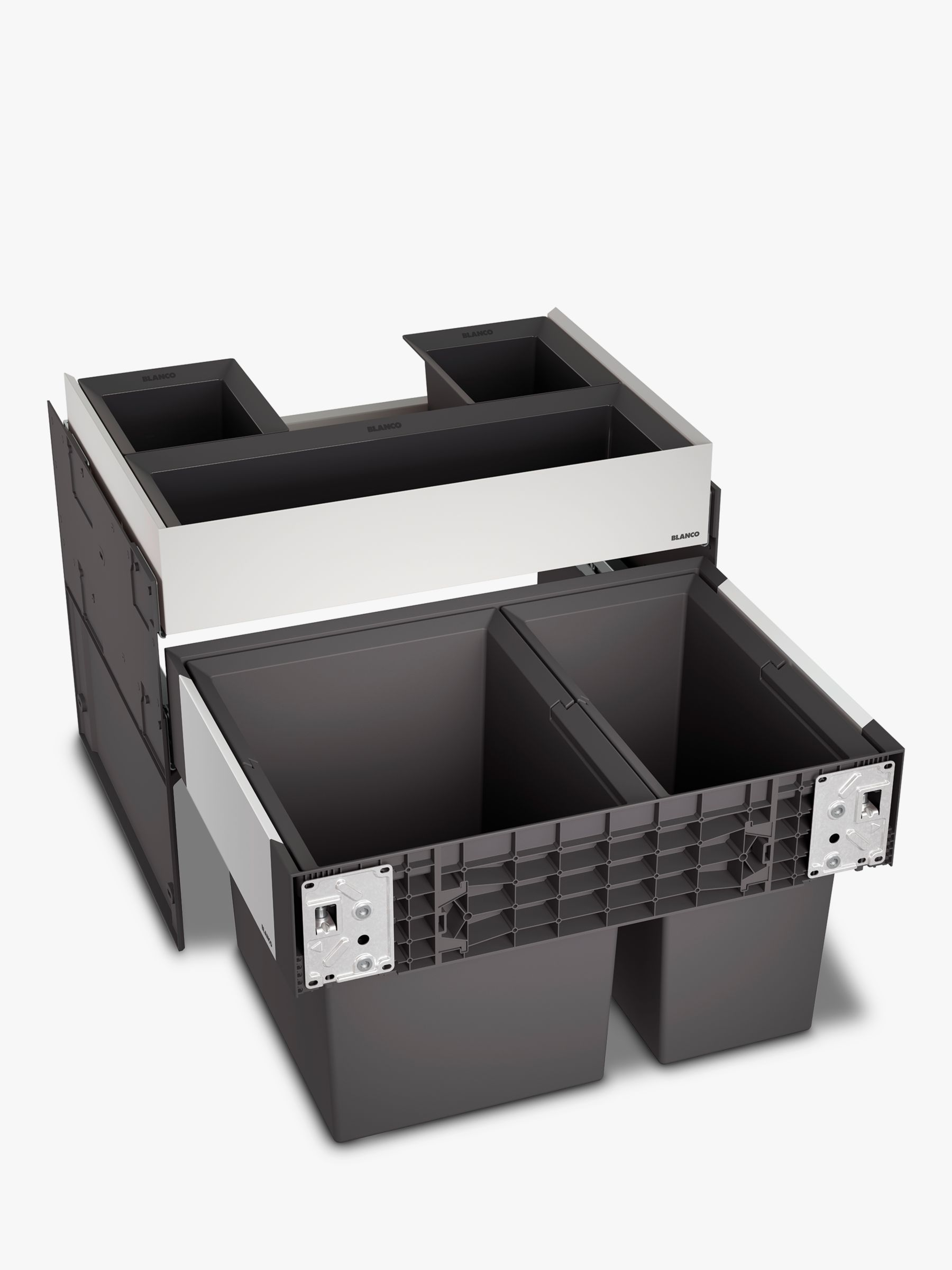 Blanco Select Orga Under Counter 2-Section Pull-Out Kitchen Bin & Organiser, 49L