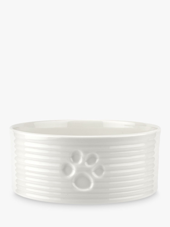 Sophie Conran for Portmeirion Porcelain Pet Bowl & Treat Jar, White