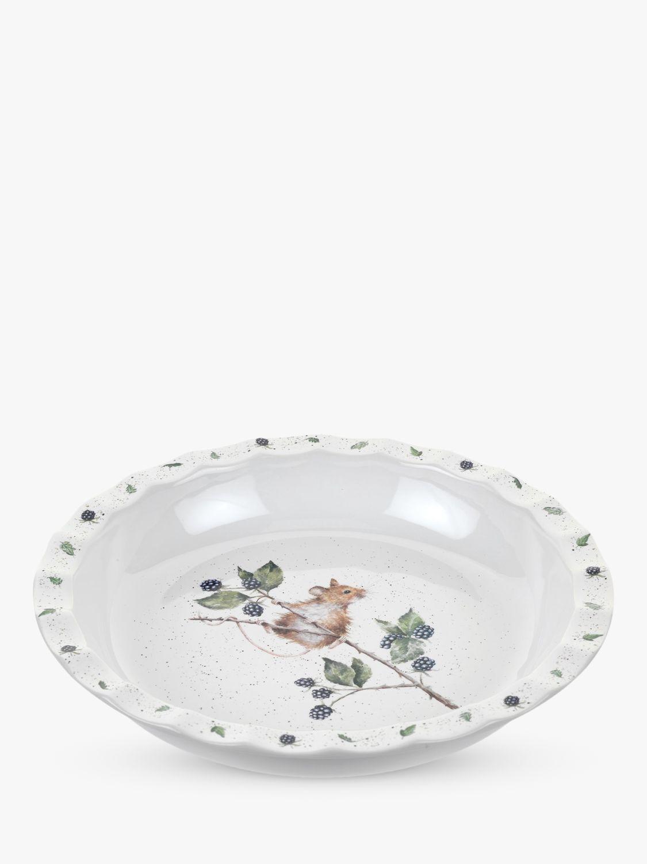 Wrendale Designs Mouse Pie Dish & Double Oven Glove, White/Multi
