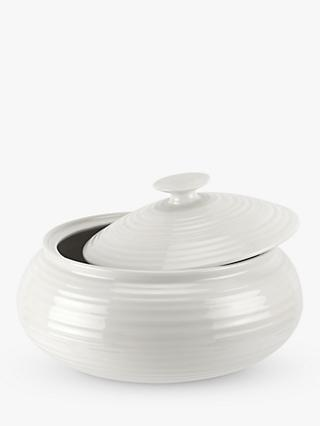 Sophie Conran for Portmeirion Porcelain Low Casserole with Lid, 28cm, White