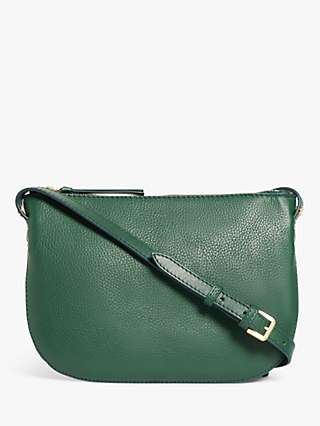 John Lewis & Partners Leather Single Zip Cross Body Bag
