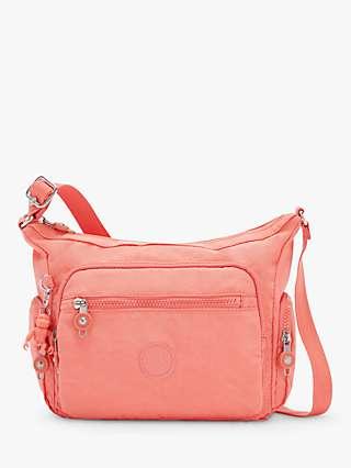 Kipling Gabbie Small Cross Body Bag, Fresh Coral