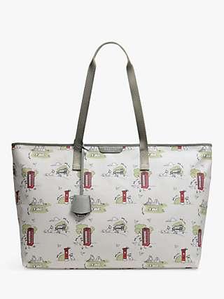 Radley Maple Cross Park Life Large Zip Top Shoulder Bag, Multi