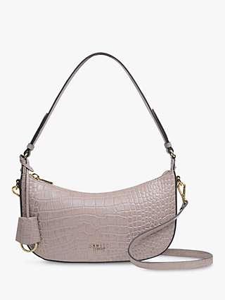 Radley Summerstown Croc Leather Small Zip Top Shoulder Bag