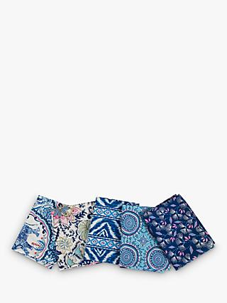 FreeSpirit Dena Designs Print Fat Quarter Fabrics, Pack of 5, Blue