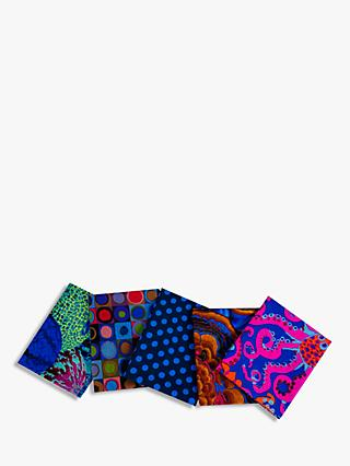 FreeSpirit Kaffe Print Fat Quarter Fabrics, Pack of 5, Dark Blue
