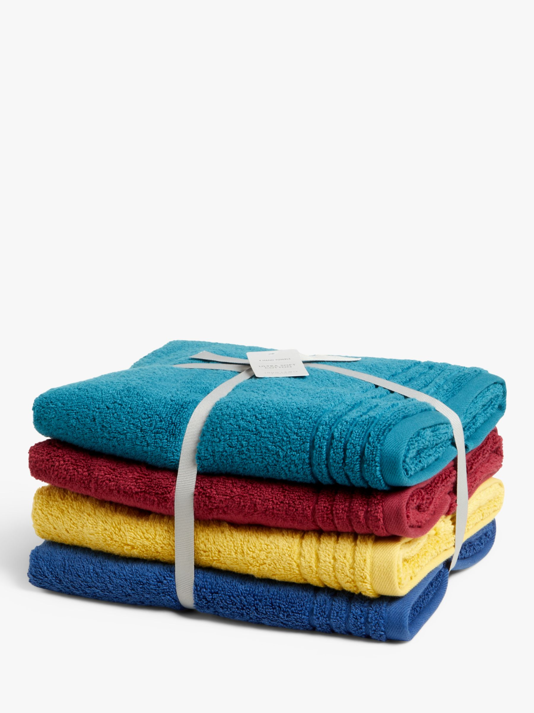 John Lewis & Partners Ultra Soft Hand Towels, Pack of 4