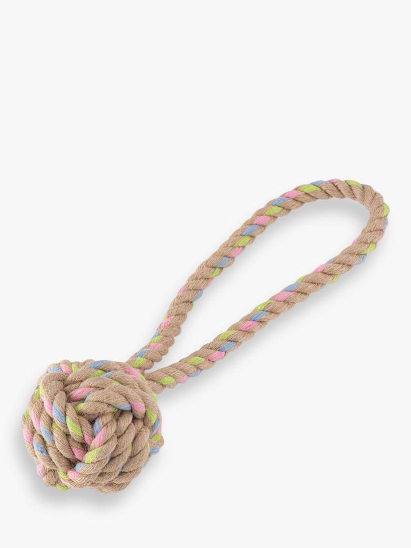 Beco Pets Hemp Rope Ball Loop Dog Toy