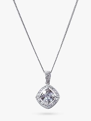 Ivory & Co. Richmond Cubic Zirconia Pendant Necklace, Silver