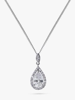 Ivory & Co. Belmont Cubic Zirconia Pendant Necklace, Silver