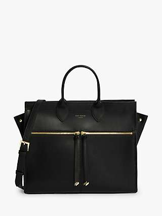 Ted Baker Rachhel Zip Detail Large Leather Tote Bag
