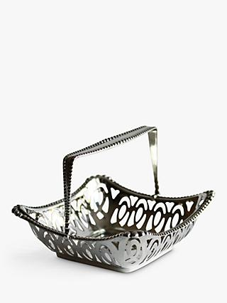VF Jewellery Second Hand Silver Basket, Dated Birmingham 1910